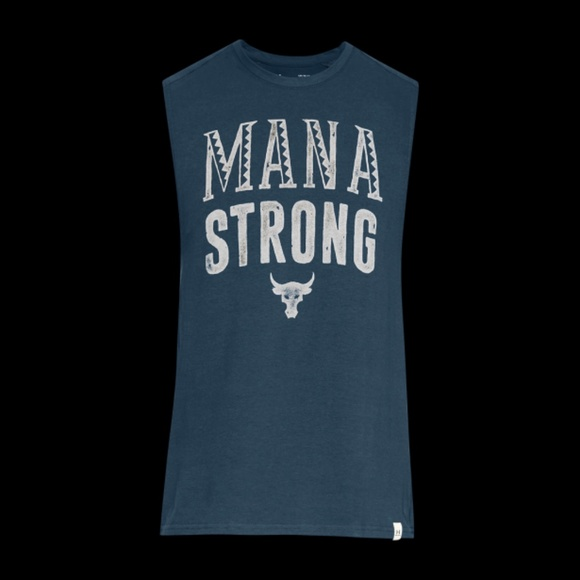 UNDER ARMOUR Men/'s UA X Project Rock Mana Strong Tank Shirt Size MEDIUM NEW